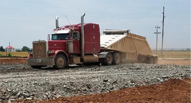 Dump-truck-hauling
